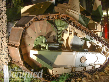 Inaurguration of the FT17 Assault Tank with replacement wooden Wheels by Alain Montpied.
